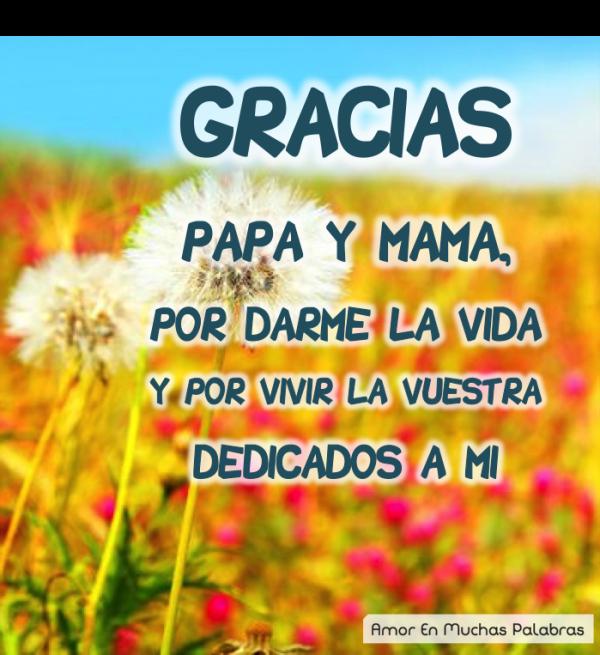 agradecimiento de padres
