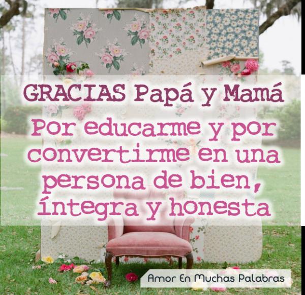 dedicatoria para padres