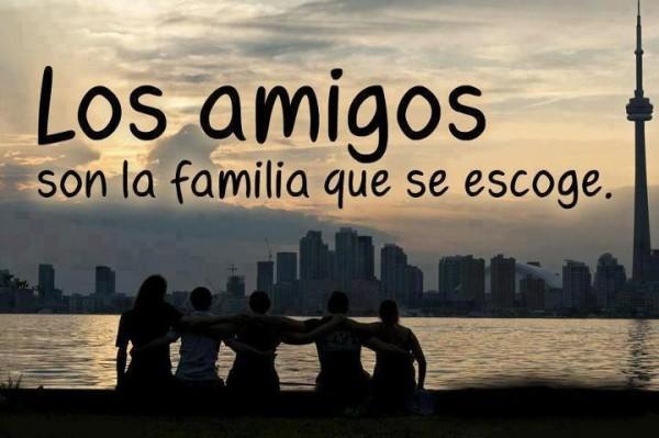 los amigos y la familia