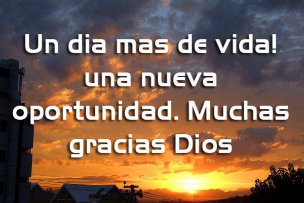 mensajes de gracias a Dios