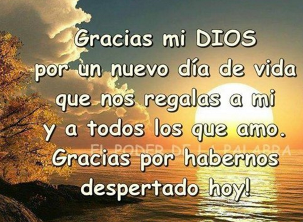 palabras en agradecimiento para Dios