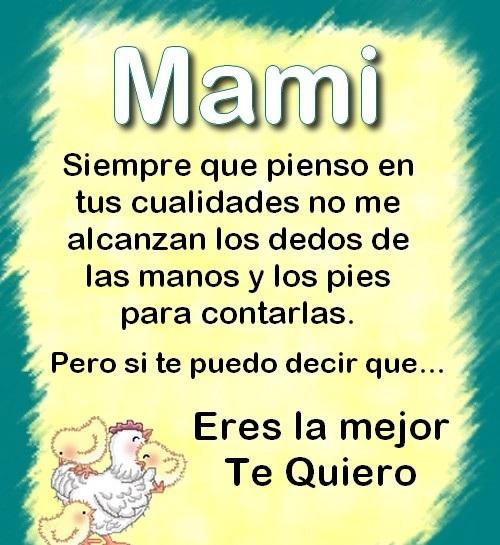 palabras de agradecimiento a mi mami