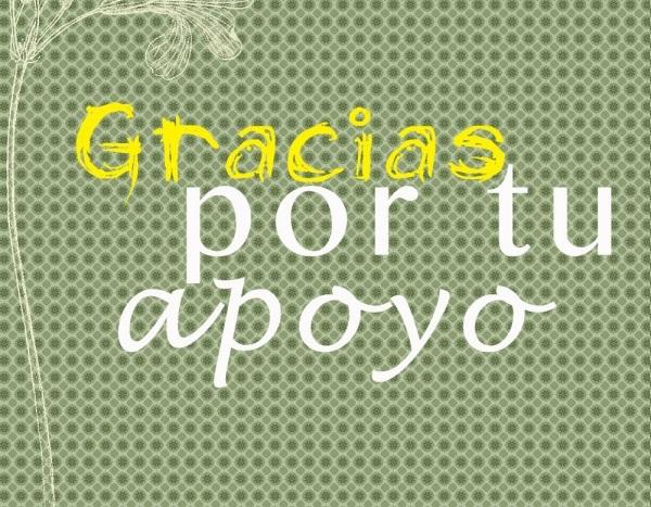 tarjeta de agradecimiento por apoyo