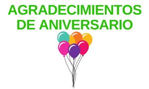 Agradecimientos de Aniversario