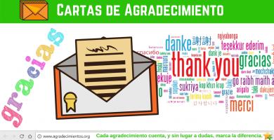 como redactar cartas de agradecimiento