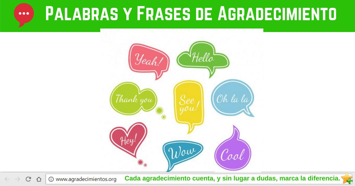 Palabras y Frases de Agradecimiento