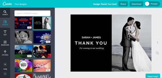aprende a crear tarjetas de agradecimiento online con canva