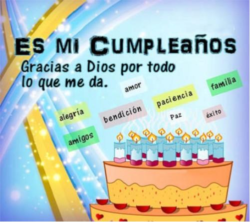 Agradecimientos de cumpleaños a Dios y amigos 2