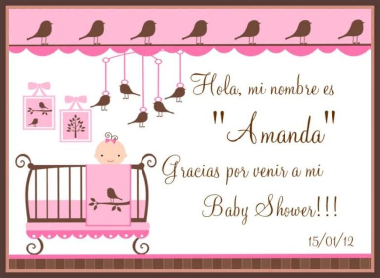 Tarjeta de agradecimiento de baby shower