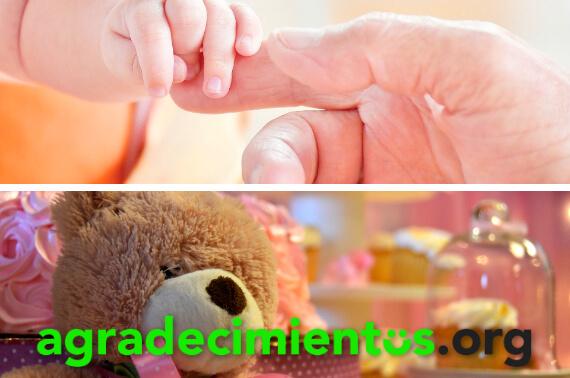 Tarjetas de agradecimiento de baby shower