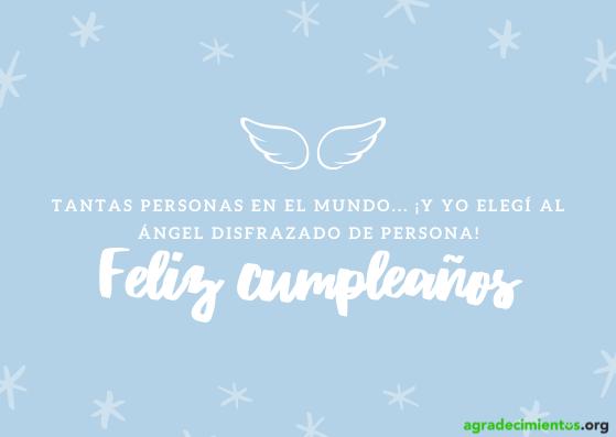 Dibujo de alas y estrellas y felicitación de cumpleaños