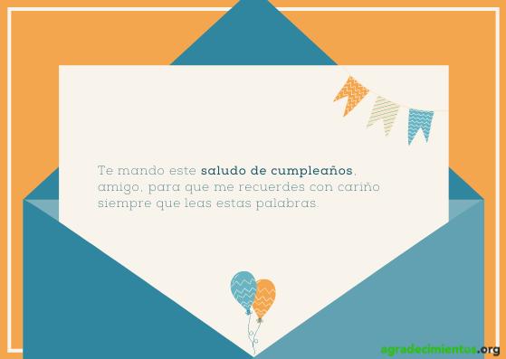 Imagen con globos y banderolas con felicitación de cumpleaños para un amigo