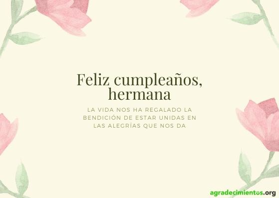 Feliz cumpleaños hermana con flores