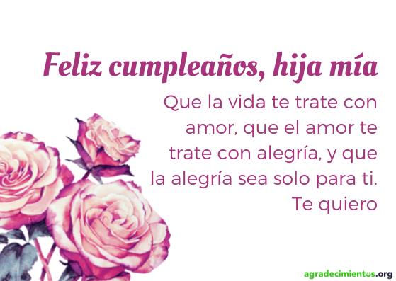 Feliz cumpleaños hija con flores