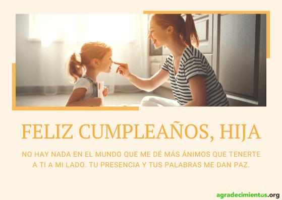 Feliz cumpleaños hija mia