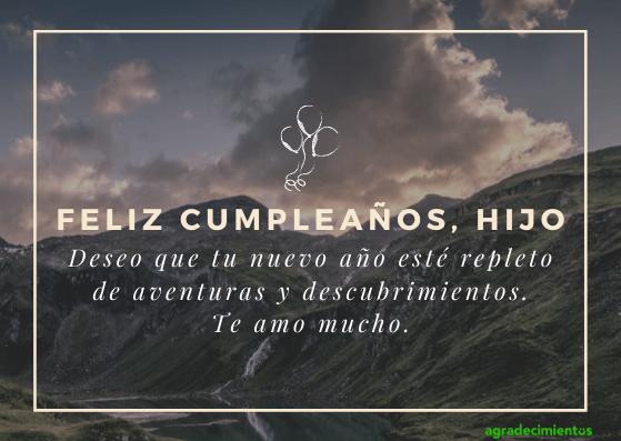 Feliz cumpleaños hijo los mejores deseos