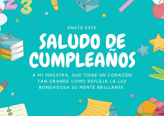 Feliz cumpleaños maestra y amiga