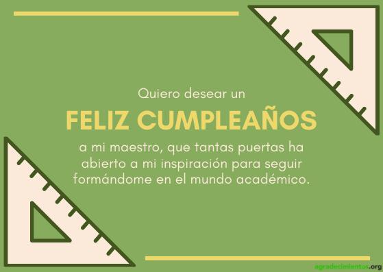 Feliz cumpleaños maestro