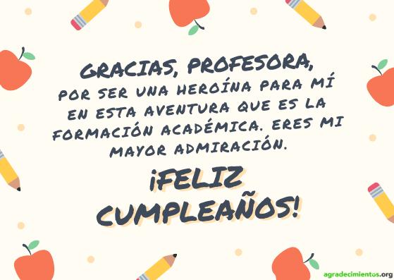 Feliz cumpleaños profesora