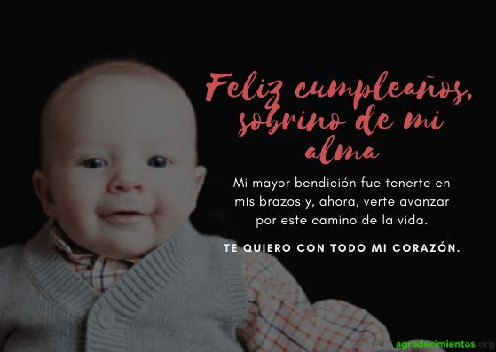 Feliz cumpleaños sobrino chiquito