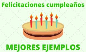 Ejemplos feliz cumpleaños