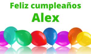 Feliz cumpleaños Alex
