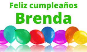 Feliz cumpleaños Brenda