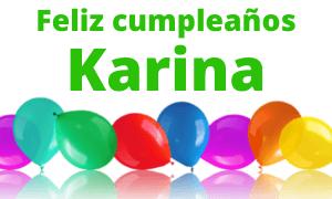 Feliz cumpleaños Karina