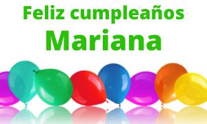 Feliz cumpleaños Mariana