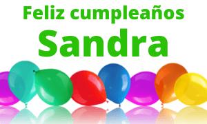 Feliz cumpleaños Sandra