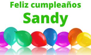 Feliz cumpleaños Sandy